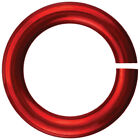 Anodized Aluminum Jumprings 3mm 100/Pkg-Red