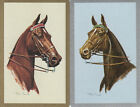 Vintage Swap/Playing Cards - 2 SINGLE- BRIDLED HORSE HEADS B