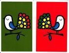Vintage Swap/Playing Cards - 2 SINGLE- FUNKY RETRO BIRDS
