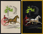 Vintage Swap/Playing Cards - 2 SINGLE- HORSE AND CARRIAGE