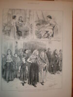 Sketches at a Manchester Cotton Factory 1872 print