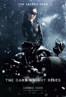 """The Dark Knight Rises movie poster : Anne Hathaway : 11"""" x 17"""" : Catwoman poster"""