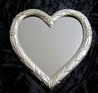 Specchio Parete Cuore forma Oggetto d'antiquariato Argento Barocco 39x38