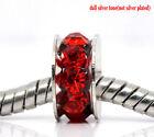 50 Perles Spacers Rondelles Strass rouge pr Bracelet Charms 10x5mm