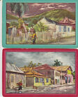 Vintage Swap/Playing Cards -2 SINGLE- COUNTRY TOWN STREET SCENES