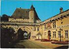 17 - cpsm - JONZAC - L'Hôtel de Ville et le château