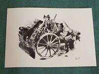 Wehrmacht A3 Print Howitzer Deutsche Soldaten Barbarossa WW2 1939-45 Frameable