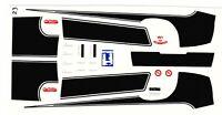 1970 Camaro 454 Phase III Hood & Trunk Stripes 1/24 - 1/25 Waterslide Decal WHIT