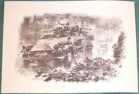 Halftrack Assault Art A3 Print Deutsche Soldaten Barbarossa 1941-45 Wehrmacht bn