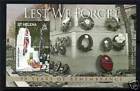 St Helena 2008 90 Years of Rememberance MS SG 1083 MNH