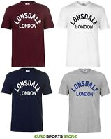 NEW Lonsdale Mens Retro T-Shirt Size S M L XL XXL XXXL Sports Fashion