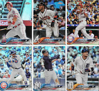 2018 Topps Chrome REFRACTOR YOU PICK DROP LIST Complete Your Set Choice Lot
