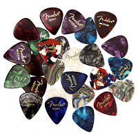 Fender Guitar 24 Picks, 24 Assorted - Tortoise Shell