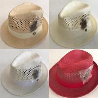 New Bruno Capelo Men's Vented Straw Dress Hat Fedora Marcello BC-511