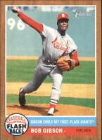 2011 Topps Heritage Baseball Flashbacks #BF-10 Bob Gibson St. Louis Cardinals