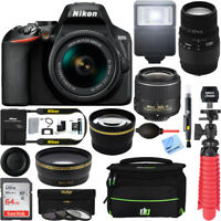 Nikon D3500 DSLR Camera(1590) + AF-P DX 18-55mm+ 70-300mm SLD DG Lens Bundle