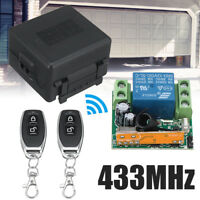 DC 12V 433Mhz 1CH Wireless RF Relay Remote Control Switch Receiver Black Module
