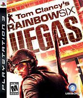 Tom Clancy's Rainbow Six: Vegas (Sony PlayStation 3, 2007) DISC IS MINT