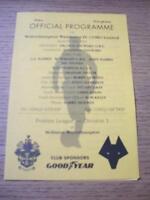 19/09/1994 Wolverhampton Wanderers Reserves v Aston Vil