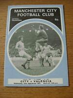 13/09/1972 Manchester City v Valencia [UEFA Cup] . No obvious faults, unless des