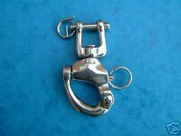 128mm SWIVEL/JAW SNAP SHACKLES STAINLESS STEEL 316