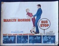 BUS STOP * LOBBY CARD SET MOVIE POSTERS MARILYN MONROE
