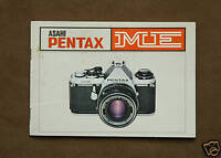 Original Owners Instruction Manual / Pentax ME Camera