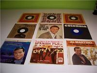 LOT OF 9 - 45 RPM RECORDS - SOME WITH PICTURE SLEEVES
