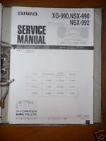 Service Manual Aiwa NSX-990/992,XG-990 HiFi,ORIGINAL