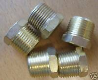 Set of 5 3/8BSP to 1/8BSP Brass Reducing Bush Fitting