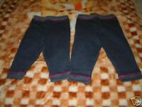 BNWOT BABY GIRL'S 2 X PAIRS NAVY TROUSERS 12-18 MONTHS
