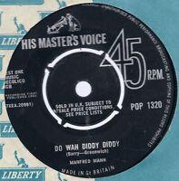 "Manfred Mann      Do Wah Diddy Diddy   7"" Vinyl HMV"