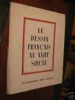 livre ancien le dessin francais au XVIIIe siecle art