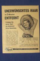 VEET HAIR REMOVER GIRL HAT  VINTAGE OLD 50S GERMAN AD