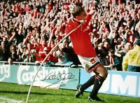 LEE SHARPE SIGNED MANCHESTER UNITED 16x12 PHOTO PROOF