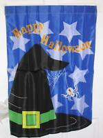"WITCHES MAGIC HAT HAPPY HALLOWEEN GARDEN FLAG 28""X40""  NEW"