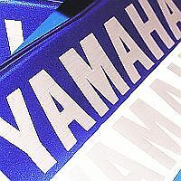 Yamaha BRUSH ALUMINUM 5in 12.7cm decals decal stickers fz09 fz1 fz6r fazer FZ07