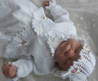 KNITTING PATTERN ROSY RUFFLES BABY / REBORN MATINEE SET