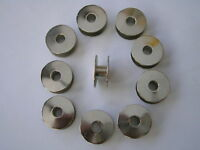 10 INDUSTRIAL SEWING MACHINE BOBBINS FITS LOTS OF BROTHER/SINGER 21.MM X 9.MM