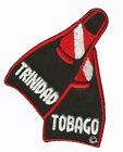 SCUBA DIVE PATCH-DIVE TRINIDAD TOBAGO FIN PATCH * NEW