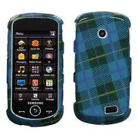Blue Plaid Weave Case Cover Samsung Solstice II A817
