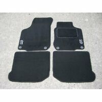Car Mats in Black to fit VW Golf Mk4 + GTI Logos