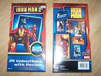 Box of 34 Iron Man 2 Valentine's Day Cards w Poster New