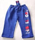Western Bulldogs AFL Boys Fleece Track Pants Size 1 New