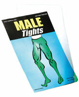 Mens Male Thick Opaque Ladies XL White Tights Pantomime Dame Fancy Dress Costume