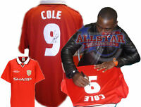 ANDY COLE SIGNED MANCHESTER UNITED 1999 CHAMPIONS LEAGUE FINAL SHIRT SEE PROOF