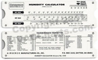 Humidity Calculator Pocket  Slide Tool