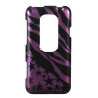 Purple Star Zebra Case Phone Cover Sprint HTC EVO 3D