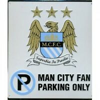 MANCHESTER CITY FC FOOTBALL NO PARKING SIGN OFFICIAL BOARD (FREE P+P)