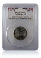 PCGS MS66 2011-P Chickasaw National Park Quarter Bunting Insert